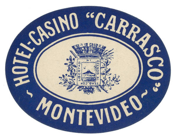 Montevideo Photograph - Luggage Label by Granger