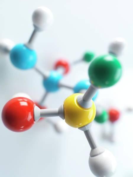 Molecular Model Wall Art - Photograph - Molecular Model by Tek Image