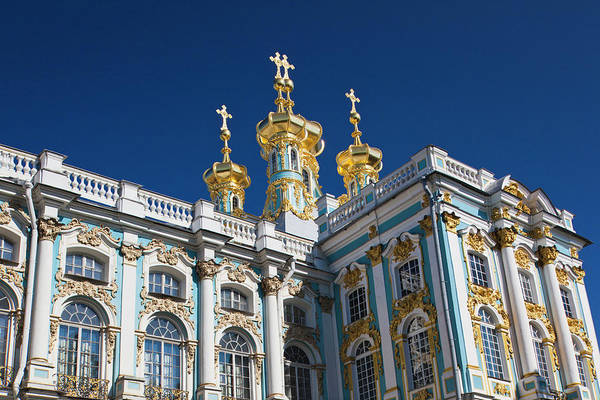 Onion Domes Photograph - Russia, Saint Petersburg by Walter Bibikow