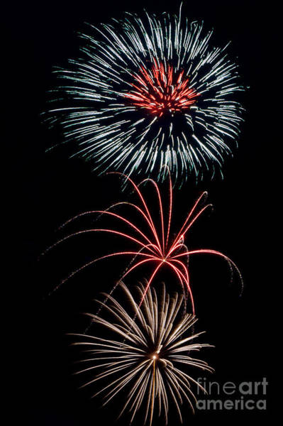 Photograph - Rvr Fireworks 2013 by Mark Dodd