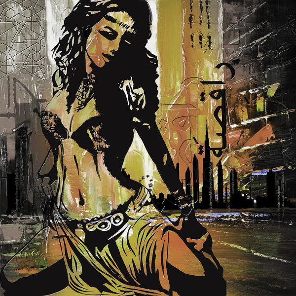 Belly Dance Painting - Abstract Belly Dancer 2 by Corporate Art Task Force