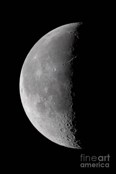 Perigee Moon Photograph - 23 Day Old Waning Moon by Alan Dyer