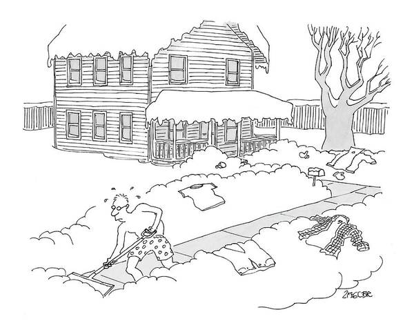 Household Drawing - New Yorker March 6th, 2006 by Jack Ziegler