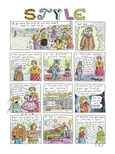 Insecurity Drawing - New Yorker March 16th, 2009 by Roz Chast