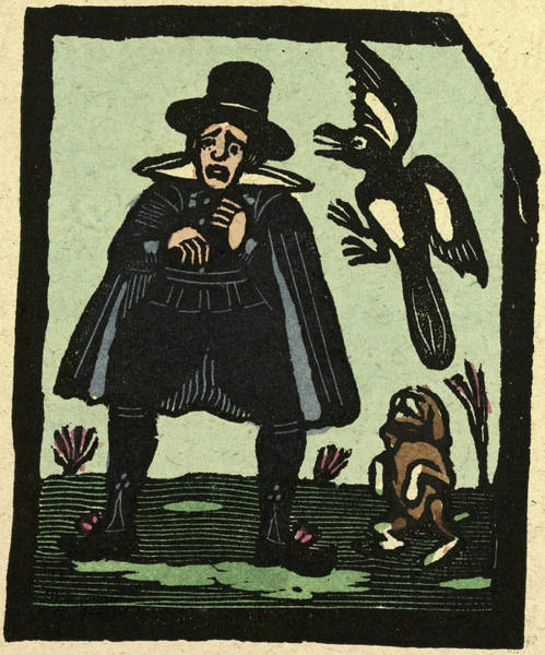 Magpies Drawing - Illustration Of English Tales Folk Tales And Ballads by English School