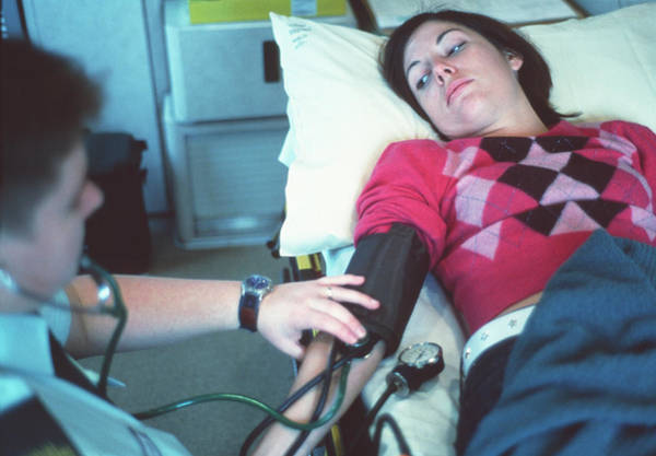 Patient Photograph - Ambulance Treatment by Annabella Bluesky/science Photo Library