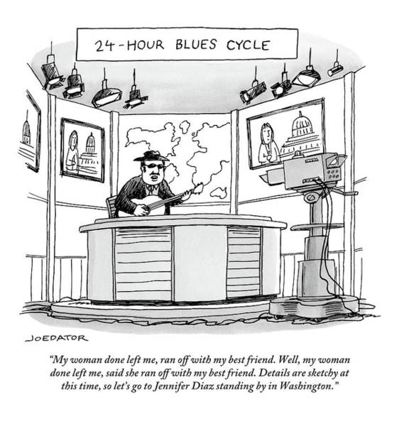 Breakup Drawing - 24-hour Blues Cycle by Joe Dator