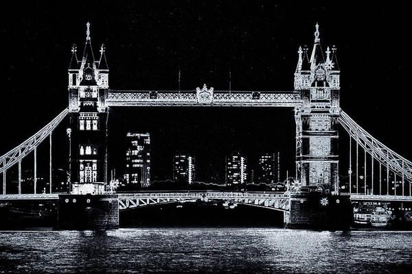River Thames Digital Art - Tower Bridge Art by David Pyatt