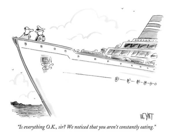 Crew Drawing - Is Everything O.k by Christopher Weyant