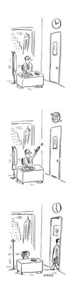 Interior Drawing - New Yorker May 29th, 2006 by David Sipress