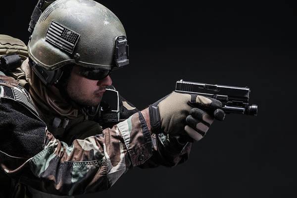 Wall Art - Photograph - U.s. Marine Corps Special Operations by Oleg Zabielin