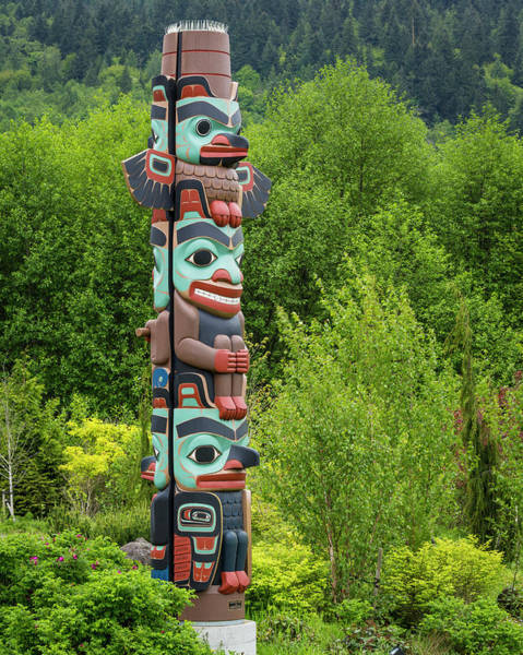 Wood Carving Photograph - Usa, Washington State, Jamestown by Jaynes Gallery