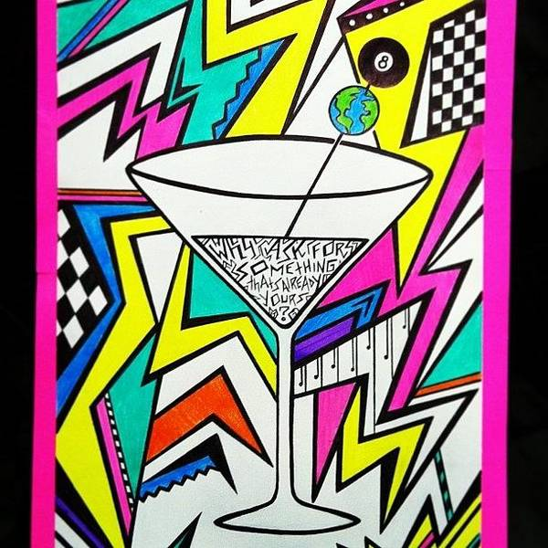 Martini Wall Art - Photograph - Instagram Photo by Gina Marie
