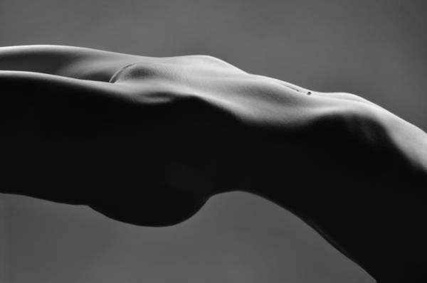 Photograph - 2465 Suspended Pelvis Black And White Nude   by Chris Maher