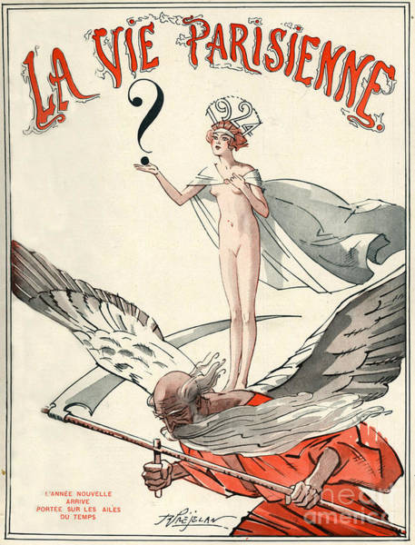 1924 Drawing - 1920s France La Vie Parisienne Magazine by The Advertising Archives