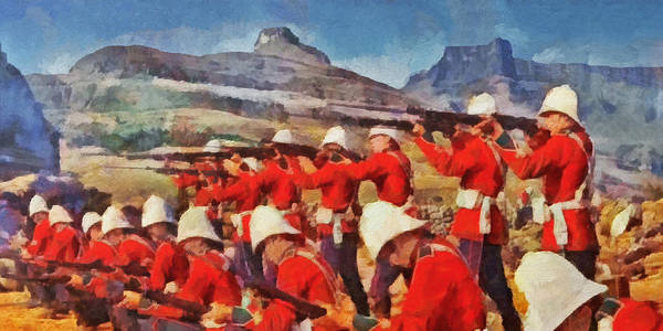 Digital Art - 24th Regiment Of Foot - Rear Rank Fire by Digital Photographic Arts