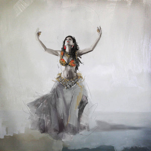 Corporate Art Task Force Wall Art - Painting - Belly Dancer 5 by Corporate Art Task Force