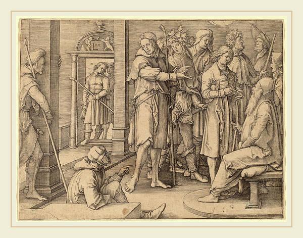 Interpret Drawing - Lucas Van Leyden Netherlandish, 1489-1494-1533 by Litz Collection