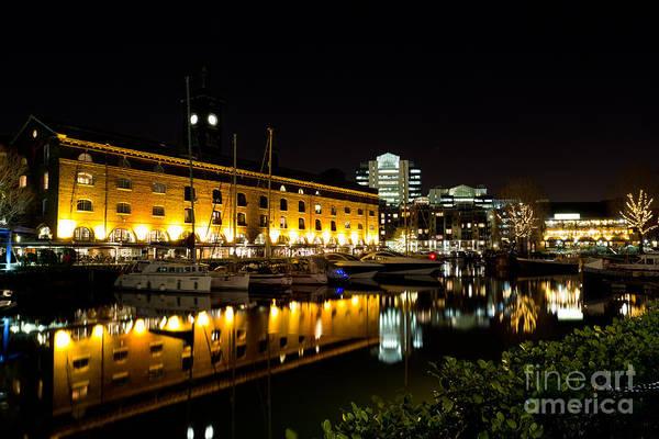 Wall Art - Photograph - St Katherines Dock London by David Pyatt