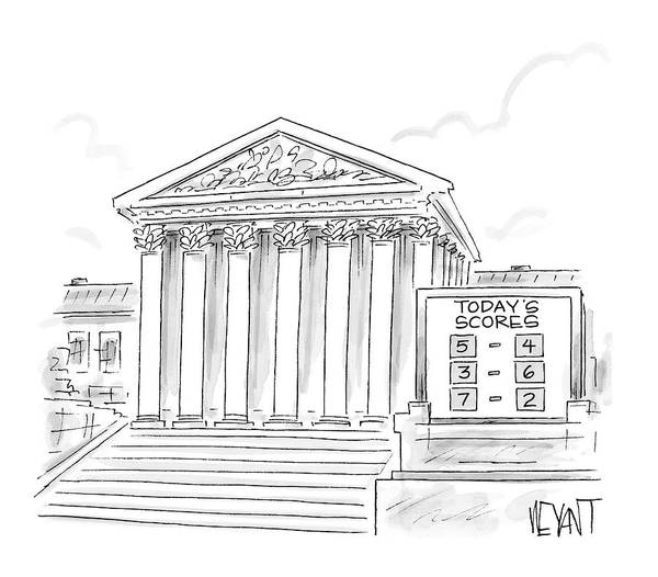 Justice Drawing - New Yorker January 22nd, 2007 by Christopher Weyant