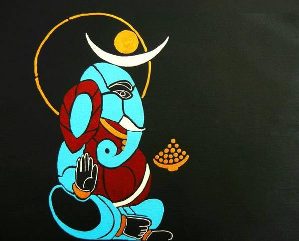 Ganesh Chaturthi Painting - 25 Varadavinayaka Ganesh by Kruti Shah