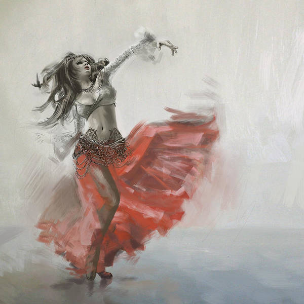 Corporate Art Task Force Wall Art - Painting - Belly Dancer 4 by Corporate Art Task Force