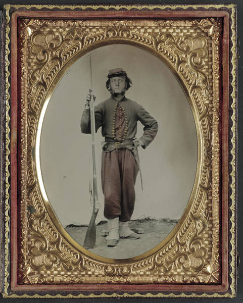 Wall Art - Painting - Civil War Soldier, C1863 by Granger