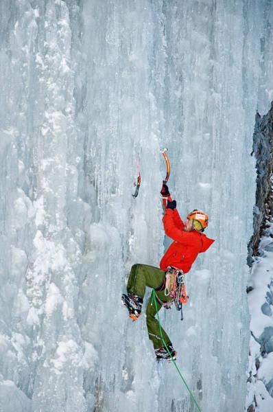 Ice Climbing Art Print by Elijah Weber