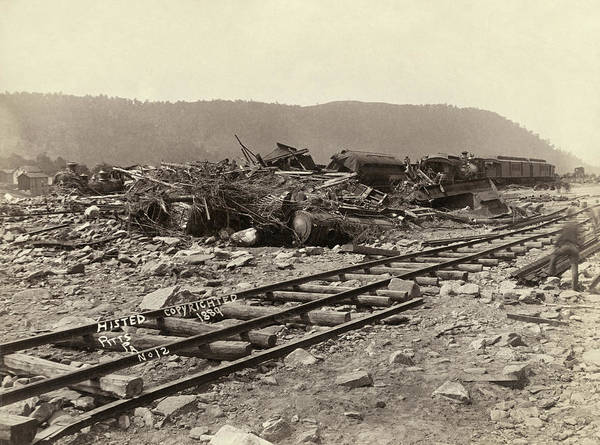 Photograph - Johnstown Flood, 1889 by Granger