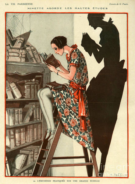 Wall Art - Drawing - La Vie Parisienne 1924 1920s France by The Advertising Archives