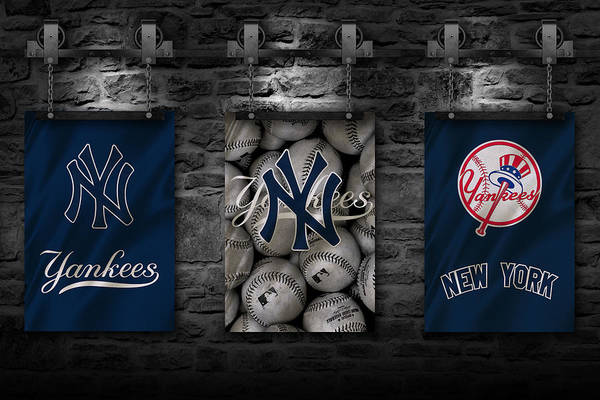 Gloves Photograph - New York Yankees by Joe Hamilton