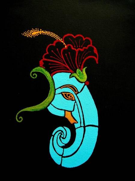 Ganesh Chaturthi Painting - 26 Uddana Ganesh by Kruti Shah