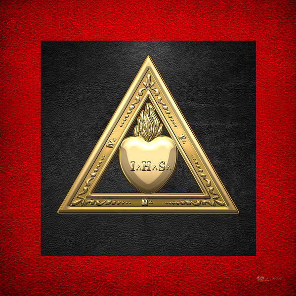 Digital Art - 26th Degree Mason - Prince Of Mercy Or Scottish Trinitarian Masonic Jewel  by Serge Averbukh