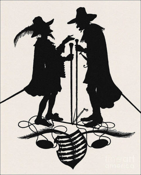 Wall Art - Photograph - A Silhouette Illustration For Midsummer Night Dream By Shakespea by Indian Summer