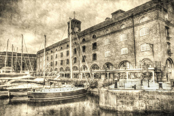 Speed Boat Digital Art - St Katherine's Dock London by David Pyatt