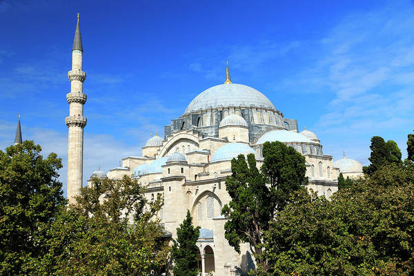 Suleymaniye Mosque Photograph - Turkey, Istanbul by Emily Wilson