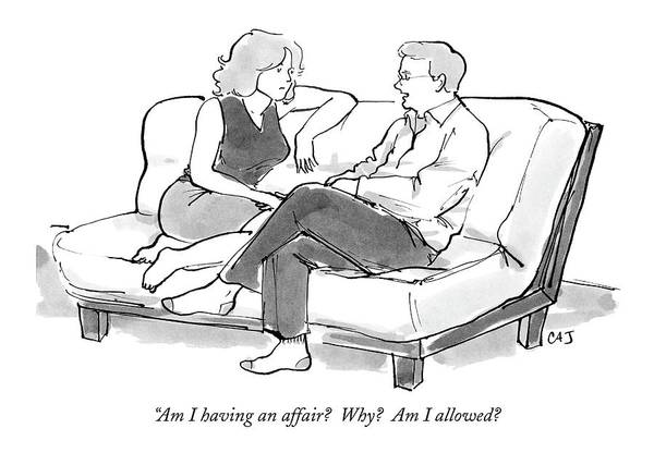 Affair Drawing - Am I Having An Affair?  Why?  Am I Allowed? by Carolita Johnson