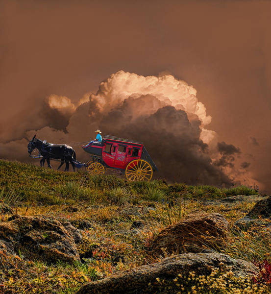 Stagecoach Photograph - 2773 by Peter Holme III
