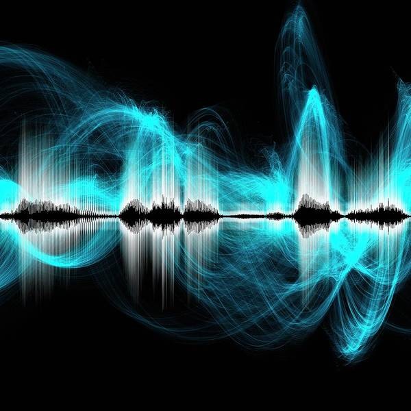 Wall Art - Photograph - Abstract Sound Waves by Mehau Kulyk/science Photo Library