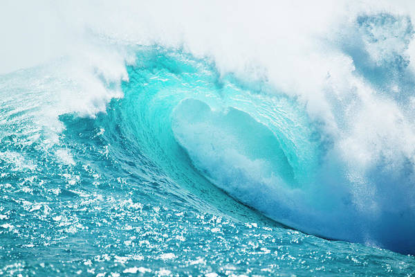 Wall Art - Photograph - Blue Ocean Wave by Design Pics Vibe