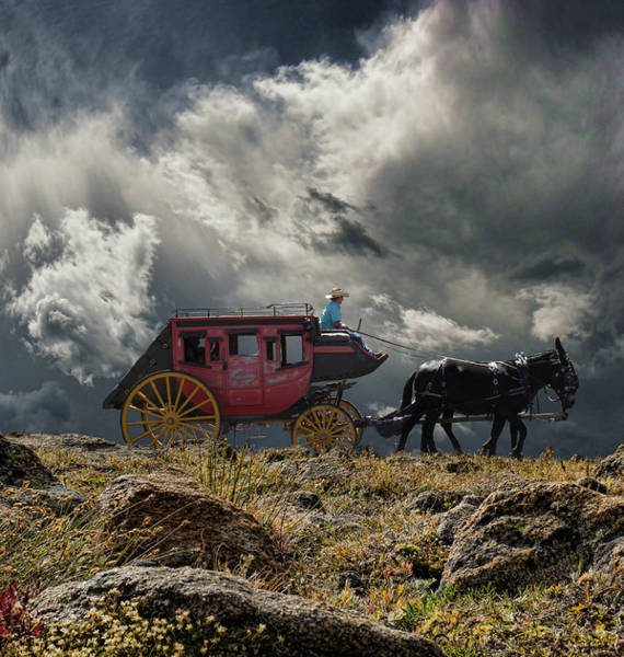 Stagecoach Photograph - 2820 by Peter Holme III