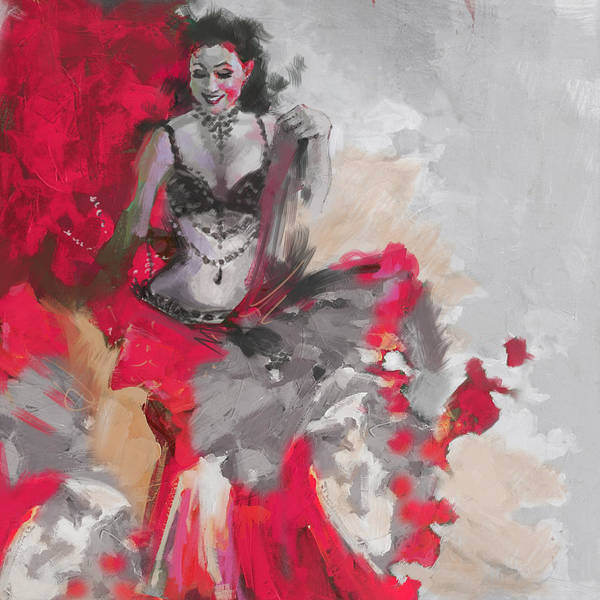 Belly Dance Painting - Belly Dancer 1 by Corporate Art Task Force