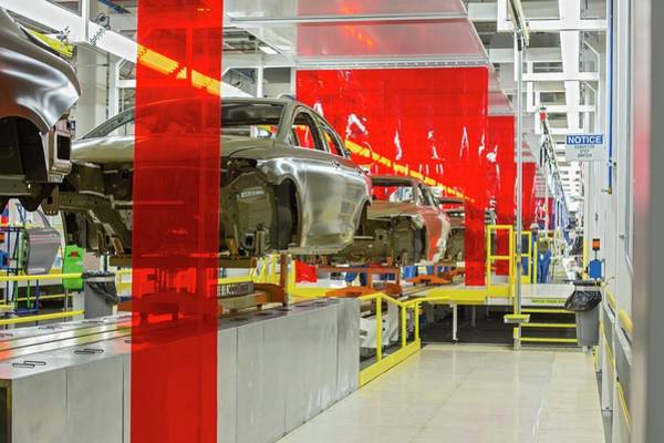 Manufacturing Plant Wall Art - Photograph - Car Assembly Production Line by Jim West