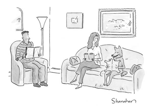 Cats Drawing - New Yorker March 27th, 2006 by Danny Shanahan