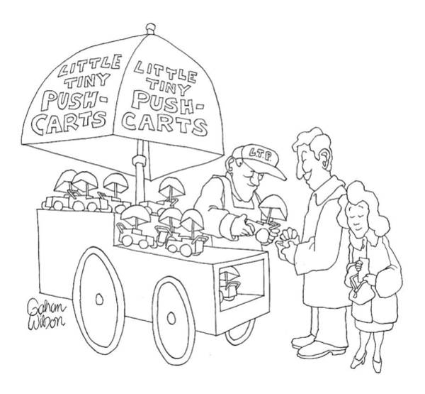 Cart Drawing - New Yorker April 23rd, 2007 by Gahan Wilson