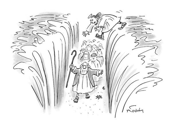 Christianity Drawing - New Yorker March 24th, 2008 by Mike Twohy