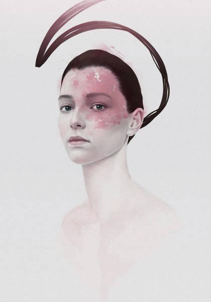 Female Portrait Painting - 294 by Diego Fernandez