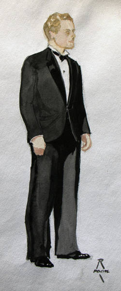 Painting - Gatsby Study 1 by Robert Poole