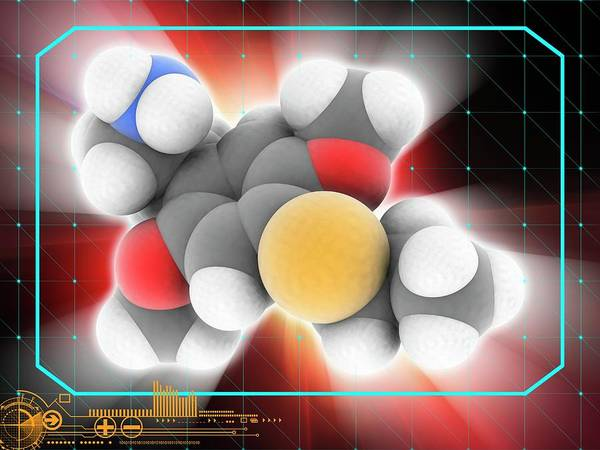Wall Art - Photograph - 2c-t-7 Psychedelic Drug Molecule by Laguna Design/science Photo Library