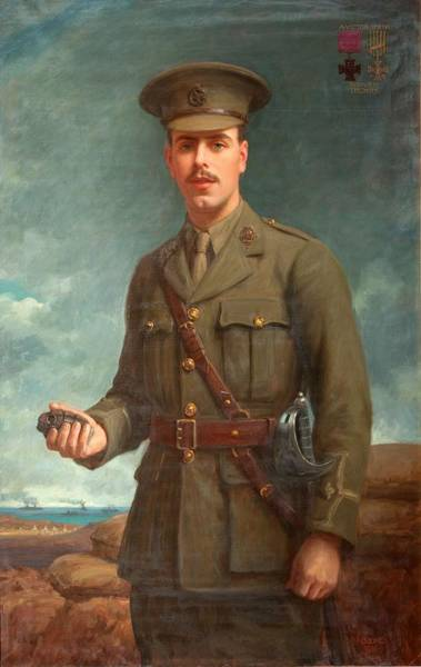 Grenade Wall Art - Painting - 2nd Lieutenant Alfred Victor Smith, Vc by Isaac Cooke
